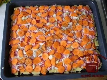 Простое блюдо из фарша. Картошка с фаршем запеченная в духовке.
