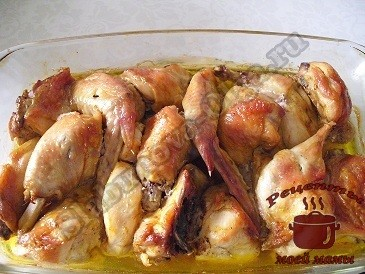 Курица запеченная в духовке готова