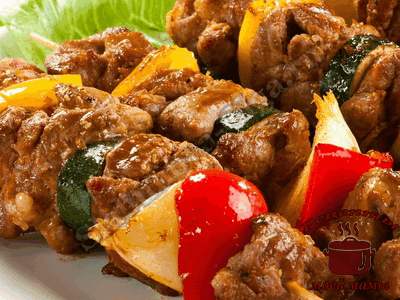 мясо для шашлыка, шашлык из свинины на шпажках