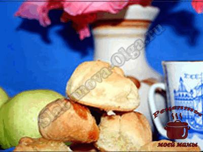 домашняя выпечка, яблочные пышки