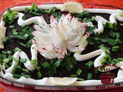 Хризантема из репчатого лука