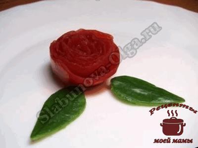 Розочки из помидор, мастер класс