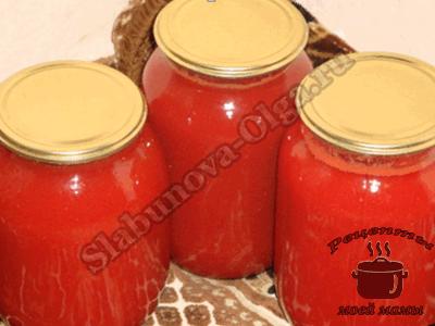 томатный сок в домашних условиях