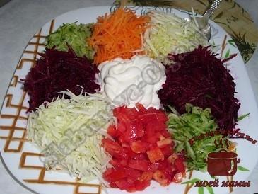 Салат овощи рецепт 4