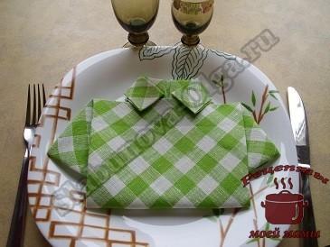 Как красиво сложить салфетки для праздничного стола.