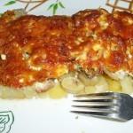 Мясо по-французски с картофелем