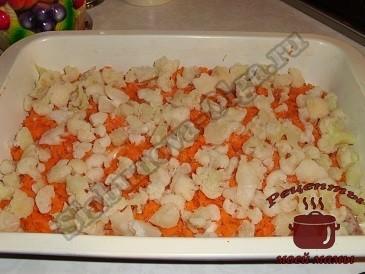 Рыба в духовке с сыром и овощами