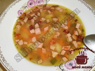 Суп колбасный