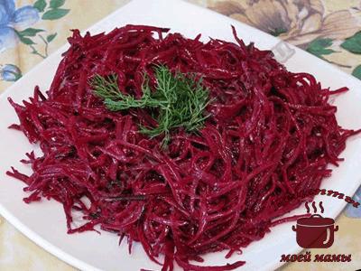 Салат из свежей свеклы по-корейски