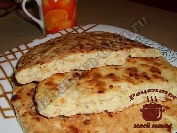 Сырные лепешки на кефире готовы