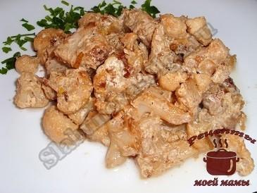 Цветная капуста с мясом