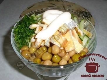 Салат со свежими огурцами
