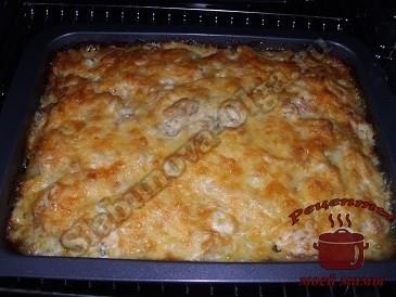Пицца из кабачков, запекаем в духовке