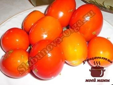 маринованные помидоры, снимаем пробу