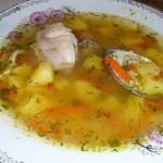 Куриный суп с рисом, легкий, диетический супчик
