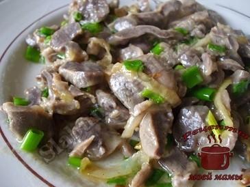 Куриные желудки в соевом соусе