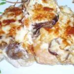 Куриная-грудка-по-французски-с-грибами