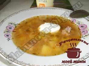 Суп рассольник из банки