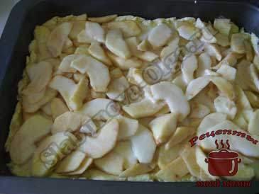 Песочный-пирог-с-яблочной-начинкой,-слоями