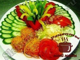 Оформление-блюд---нарезка-из-овощей