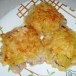 Курица-с-грибами-в-картофельной-шубке