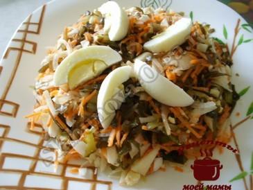 Салат из морской капусты с яблоком