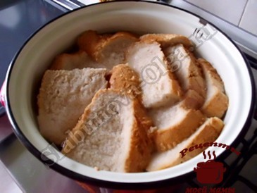 Домашний квас, замачиваем хлеб