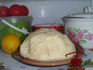 Песочный пирог, готовим тесто