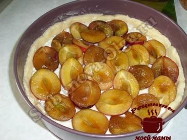 Пирог со сливами, начинка
