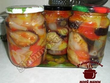 Салат на зиму из овощей готов