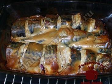 Вкусная скумбрия в духовке готова