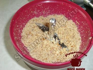 Ореховый соус, измельчаем орехи