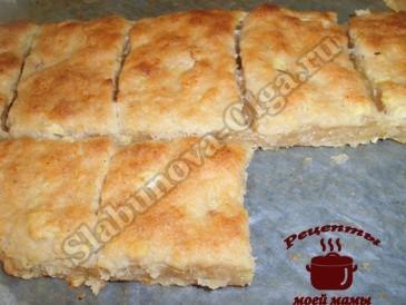 Творожное печенье, режем