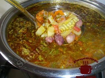 Быстрый суп из фасоли