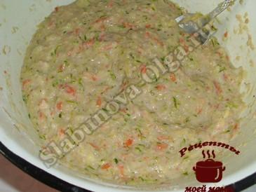 Вкусные блины из кабачкoв, готовим тесто
