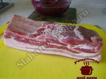 Грудинка свиная, покупаем