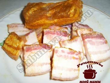 Грудинка свиная с карри и паприкой