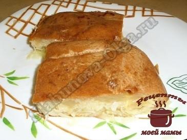 Пирог с капустой без дрожжей