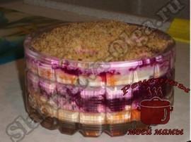 слоеный салат с грецкими орехами