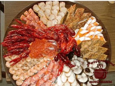Оформление блюд - мясные и рыбные нарезки