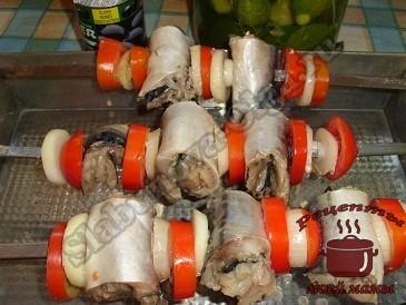 Вкусный шашлык из скумбрии