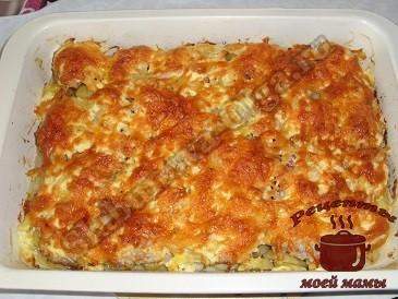 мясо по французски в духовке с картофелем