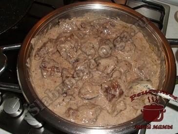 Как приготовить куриную печень в сметане