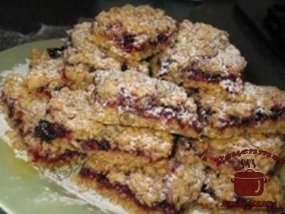 Королевское овсяное печенье с джемом