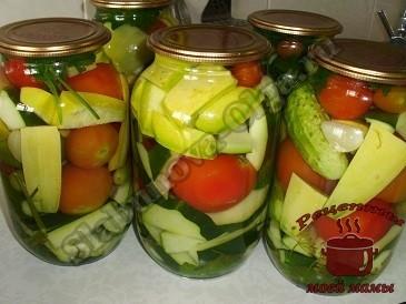 маринованные овощи Ассрти