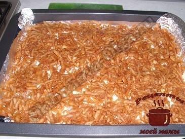 Сухой яблочный пирог, второй слой