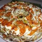 Салат с жареными грибами «Радость грибника»
