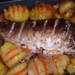 Карп с картошкой