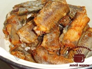 Жареная рыба путассу, вкусно и