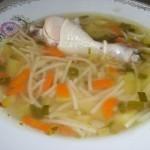 Куриный суп с вермишелью, очень вкусный супчик